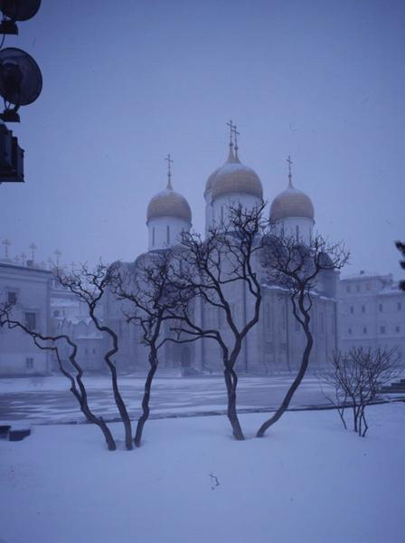 Assumption Cathedral in winter
