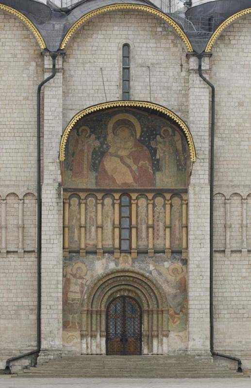 Paintings on the southern faсade the Assumption cathedral