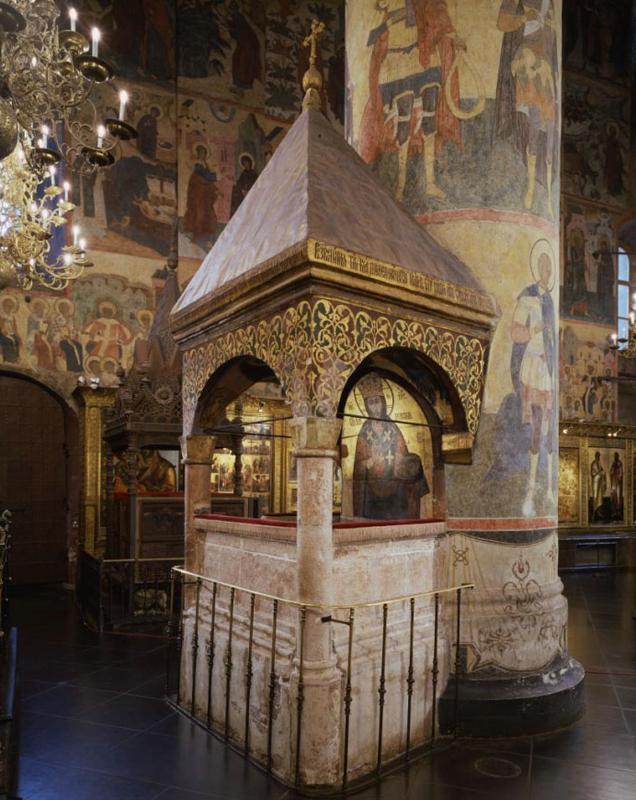 Патриаршее моленное место. Источник фото: assumption-cathedral.kreml.ru
