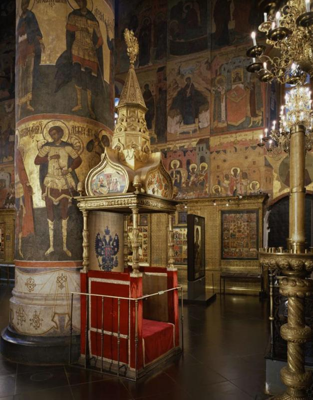 Моленное место цариц. Источник фото: assumption-cathedral.kreml.ru