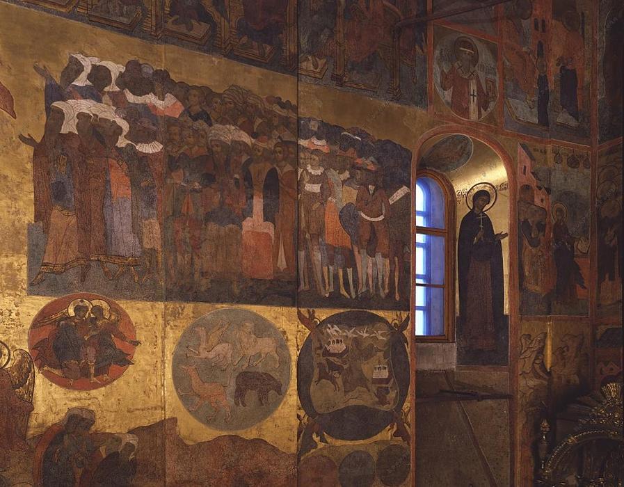 Неправедные народы. Фрагмент фрески «Страшный суд». 1642-1643. Источник фото: assumption-cathedral.kreml.ru