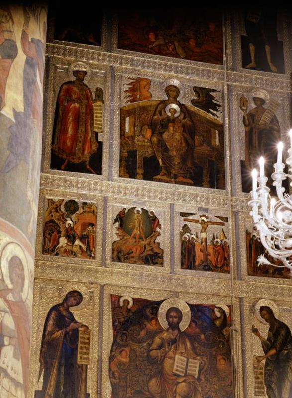 Central iconostasis. Central part