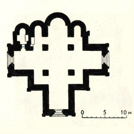 Plan of the Assumption Cathedral, 1326-1327