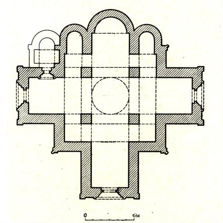 Plan of the Saint George Cathedral in Yuriev-Polskiy