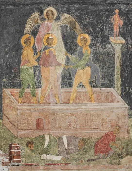 The Three Hebrews in the Fiery Furnace. Fragment 2